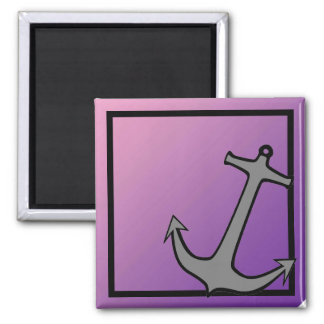 Anchor on Pink and Purple Magnet