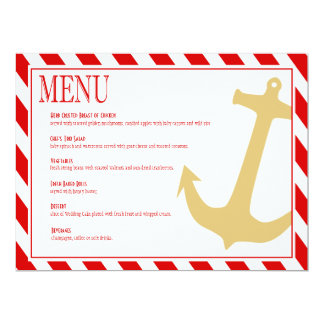 Anchor on Stripes | red white Card