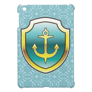 Anchor on the Shield Vector Design Case For The iPad Mini