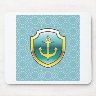Anchor on the Shield Vector Design Mouse Pad