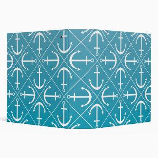 Anchor pattern 3 ring binder