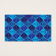 Anchor pattern business card at Zazzle