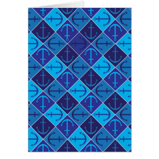 Anchor pattern card