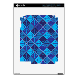 Anchor pattern decal for iPad 3