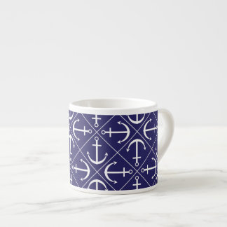 Anchor pattern espresso cup