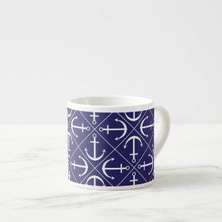 Anchor pattern espresso cup
