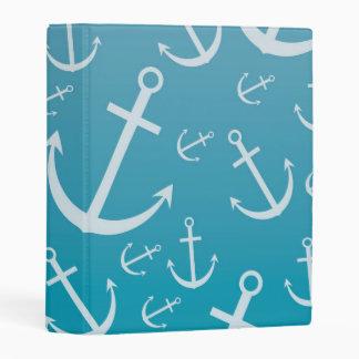 Anchor pattern mini binder