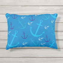 Anchor pattern outdoor pillow