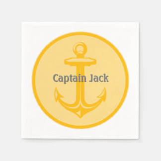 Anchor Personalizable Napkin | Nautical Gifts