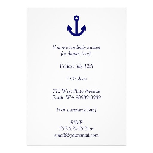 Anchor Personalized Invitations