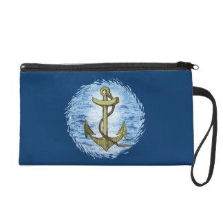 Anchor plain Bagettes Bag Wristlet Purse