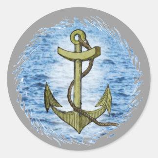 Anchor plain classic round sticker