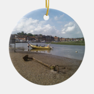 Anchor, RIB at rest Blakeney, Norfolk Ceramic Ornament
