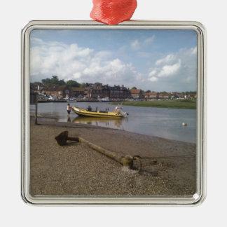 Anchor, RIB at rest Blakeney, Norfolk Metal Ornament