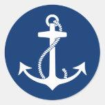 Anchor Round Stickers