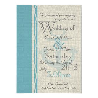 Anchor Rustic Nautical Wedding Card