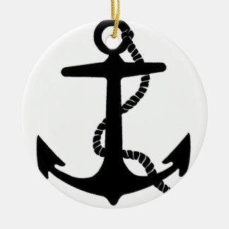anchor sailor hook ceramic ornament
