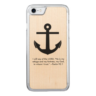 Anchor Scripture Verse Carved iPhone 7 Case