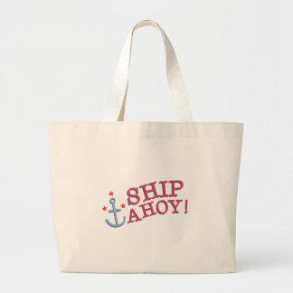Anchor Ship Ahoy! Jumbo Tote Bag