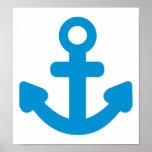 Anchor ship boat print