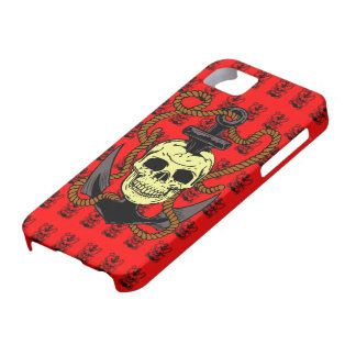 Anchor Skull Tattoo iPhone 5 Covers