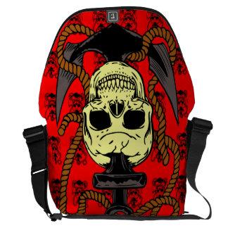 Anchor Skull Tattoo Messenger Bag