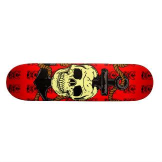 Anchor Skull Tattoo Skate Deck