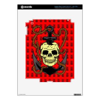 Anchor Skull Tattoo Skin For iPad 3