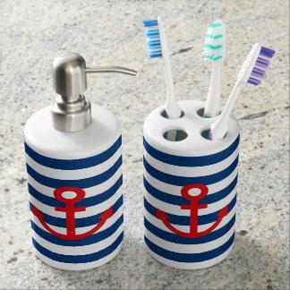 Anchor Soap Dispenser And Toothbrush Holder