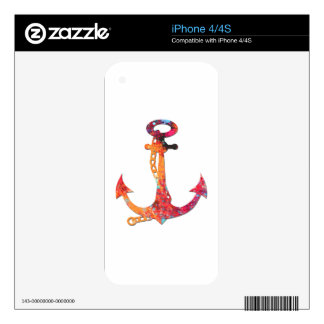 ANCHOR SPLASH DESIGN DECAL FOR iPhone 4