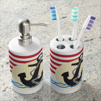 Anchor, Sun and Water Bathroom Set