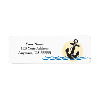 Anchor, Sun and Water Customizable Label