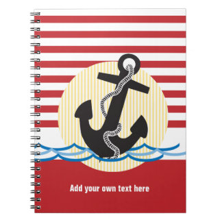 Anchor, Sun and Water Customizable Notebook