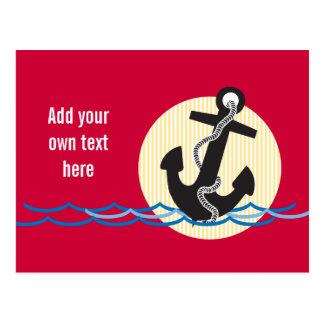 Anchor, Sun and Water Customizable Postcard