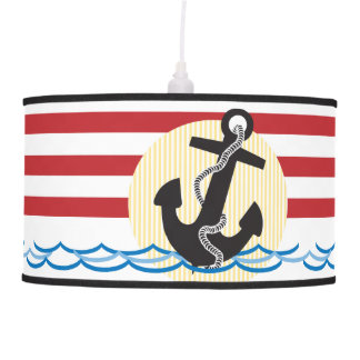 Anchor, Sun and Water Hanging Lamp