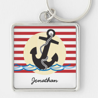 Anchor, Sun and Water Personalized Keychain