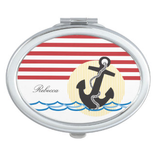 Anchor, Sun and Water Personalized Makeup Mirror