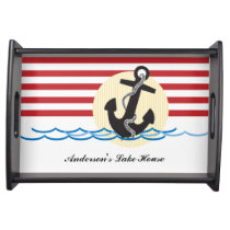 Anchor, Sun and Water Personalized Serving Tray