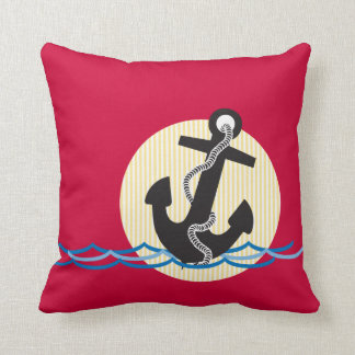 Anchor, Sun and Water Throw Pillow