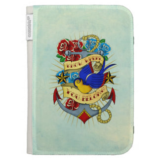 Anchor, Swallow and Roses Kindle Folio Cases