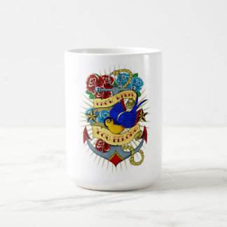 Anchor, Swallow and Roses Classic White Coffee Mug