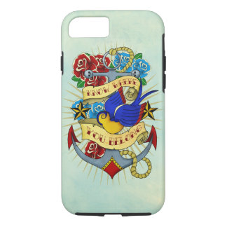 Anchor, Swallow and Roses iPhone 7 Case