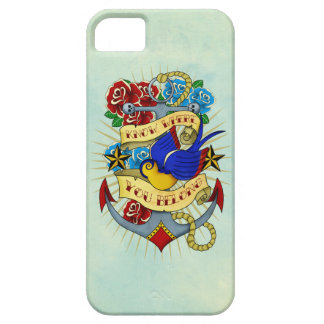 Anchor, Swallow and Roses iPhone SE/5/5s Case