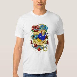 Anchor, Swallow and Roses Tee Shirt