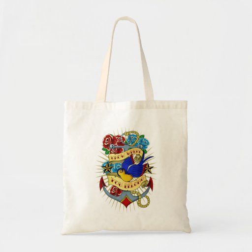 Anchor, Swallow and Roses Tote Bag