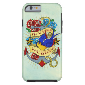 Anchor, Swallow and Roses Tough iPhone 6 Case