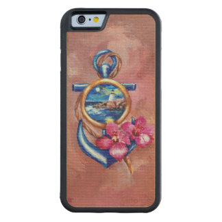 Anchor Tatoo Carved® Maple iPhone 6 Bumper Case