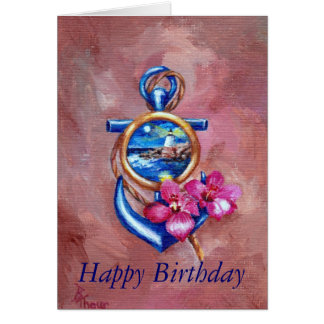 Anchor Tattoo Birthday Card