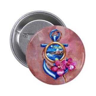 Anchor Tattoo Pinback Buttons