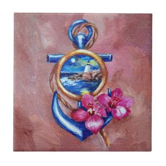 Anchor Tattoo Ceramic Tile